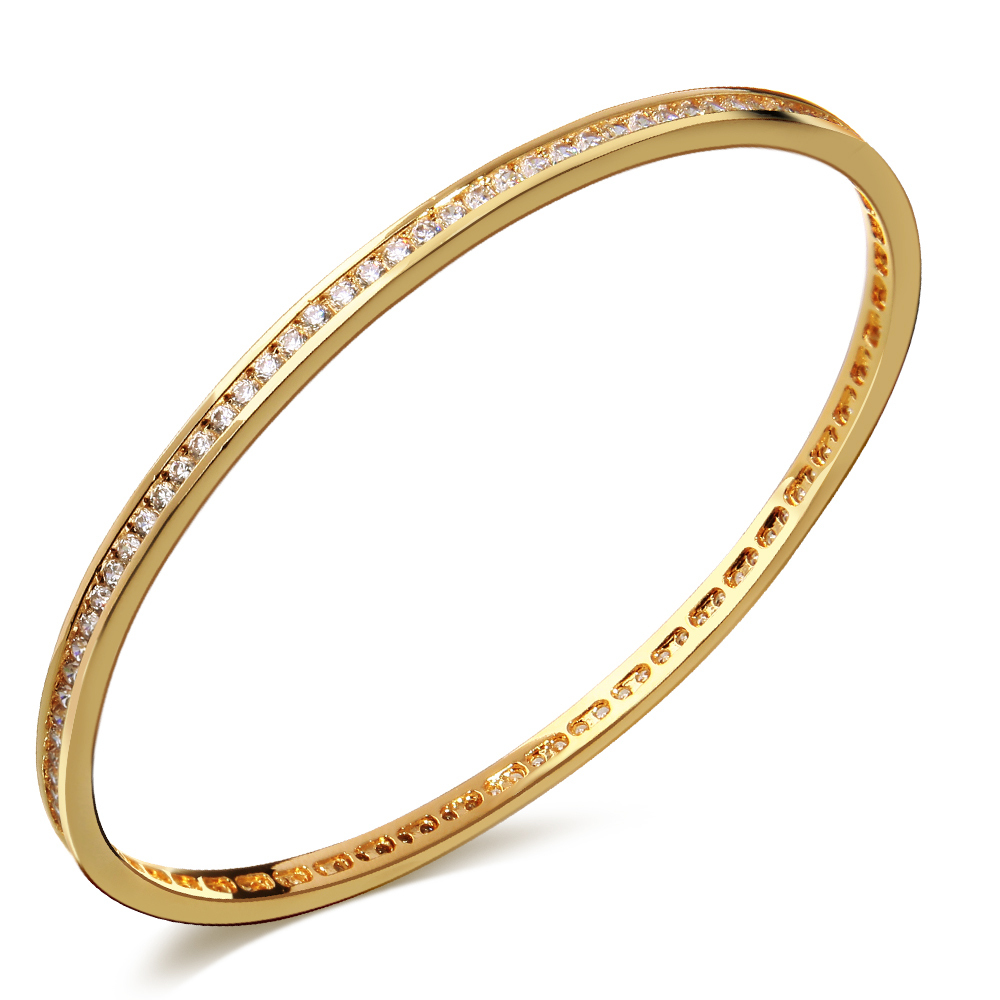 56 mm Diameter Simple round women Bangle bracelet copper material ...