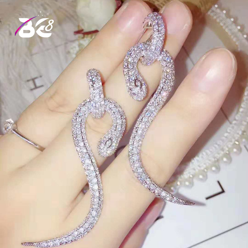 Купить женские серьги капельки be 8 e797 стильные длинные в форме змеи
