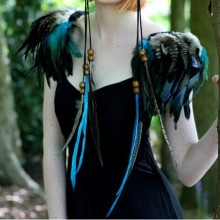CRIAPSSOUL Free shipping handmade feather shoulder epaulette FSP14006