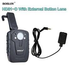 BOBLOV HD31-D Vídeo Áudio Mini Camcorder 1296 p 32 GB Lente Ambarella A7 Câmera Junto Ao Corpo Da Polícia Com Botão Externo Câmera HD