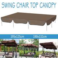 Waterproof Swing Chair Top Cover Awning Outdoor Garden Canopy Replacement Courtyard Swing Chair Hammocks Shade Sails Tent
