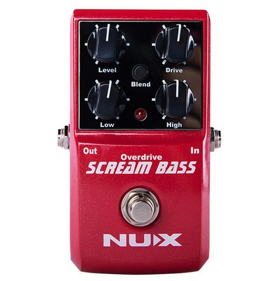 Nux Scream Bass Analog Overdrive Tone From Overdrive To Fuzz Bass Effects Pedal True Bypass