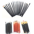 20 fiber wool  cosmetic brush sets, black, brown, no bag (transparent PVC bags) Cosmetic brush eye shadow brush to paint