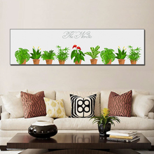 Simple Art Painting Green Potted Plants Canvas Living Room Mural Cactus Decoration Posters And Prints