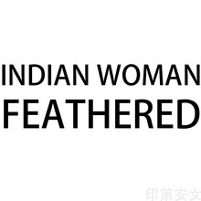 HDARTISAN Wall Art Canvas Pictures Indian Woman Feathered For Living Room Portrait Painting Home Decor No Frame(China)