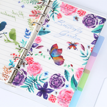 Fromthenon Bird And Flowers Pp A5a6 Notebook Divider For Filofax Dokibook Spiral Planner Index 5pcs/lot Korean Stationery Store