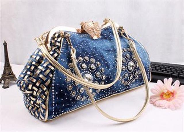 Fashion Denim Bag 30 x 24cm 1