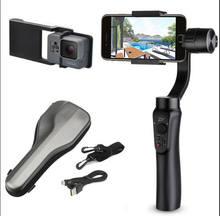 JMT Zhiyun Gładka Gładka-Q Q 3-Axis Gimbal Stabilizator Handheld Smartphone + płyta dla Gopro Hero 5 4 3 VS Zhiyun Gładka III