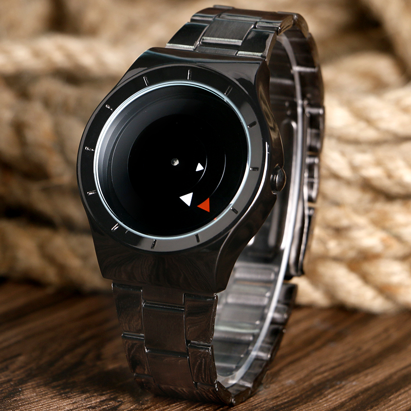 Cool Fashion Unique Brand Black/Silver Metal Mesh Band Wrist Watch Mens Boy Turntable Dial Gift Wristwatches paidu fashion unique brand black silver quartz metal mesh band wrist watch mens boy turntable dial digital gift wristwatches