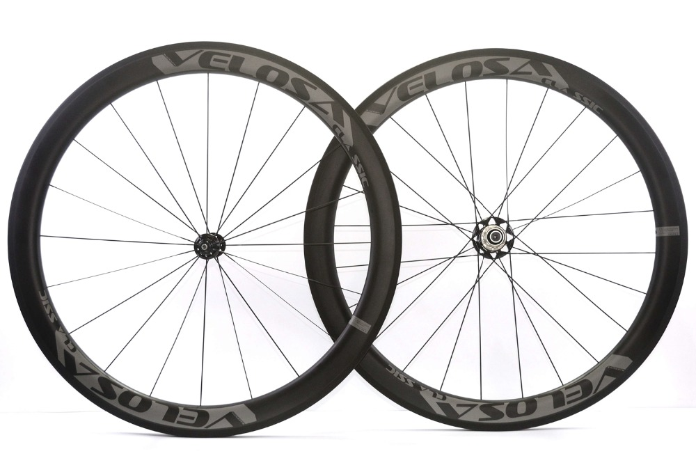 VELOSA! Freeshipping 50mm depth road carbon wheels 25mm width Clincher/Tubular bike carbon fiber wheelset with Powerway R51 hub carbon wheels 700c 25mm width 38mm clincher racing bicycle wheels road bike carbon wheelset clincher with powerway r51 hub
