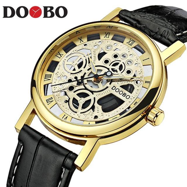 518274896aa Esqueleto Homens Relógio de Quartzo Esportes Dos Homens Relógios Top Marca  de Luxo Horas Data Homem