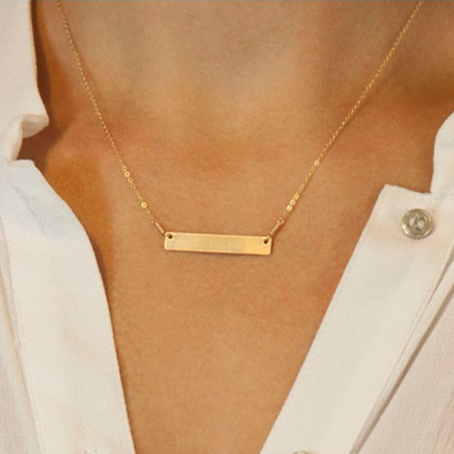 Geometric Women Clavicle Necklace 2