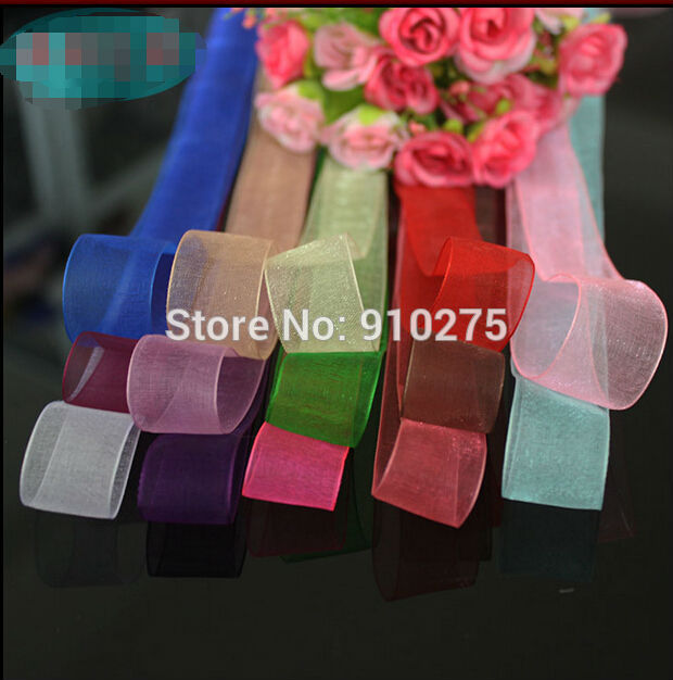 Event & Party Rapture 250 Yards/lot 2cm Width Satin Clear Organza Ribbon Diy Craft Gift Wraps Wedding Centerpieces Party Decoration Mixed Colors Fine Craftsmanship Banners, Streamers & Confetti