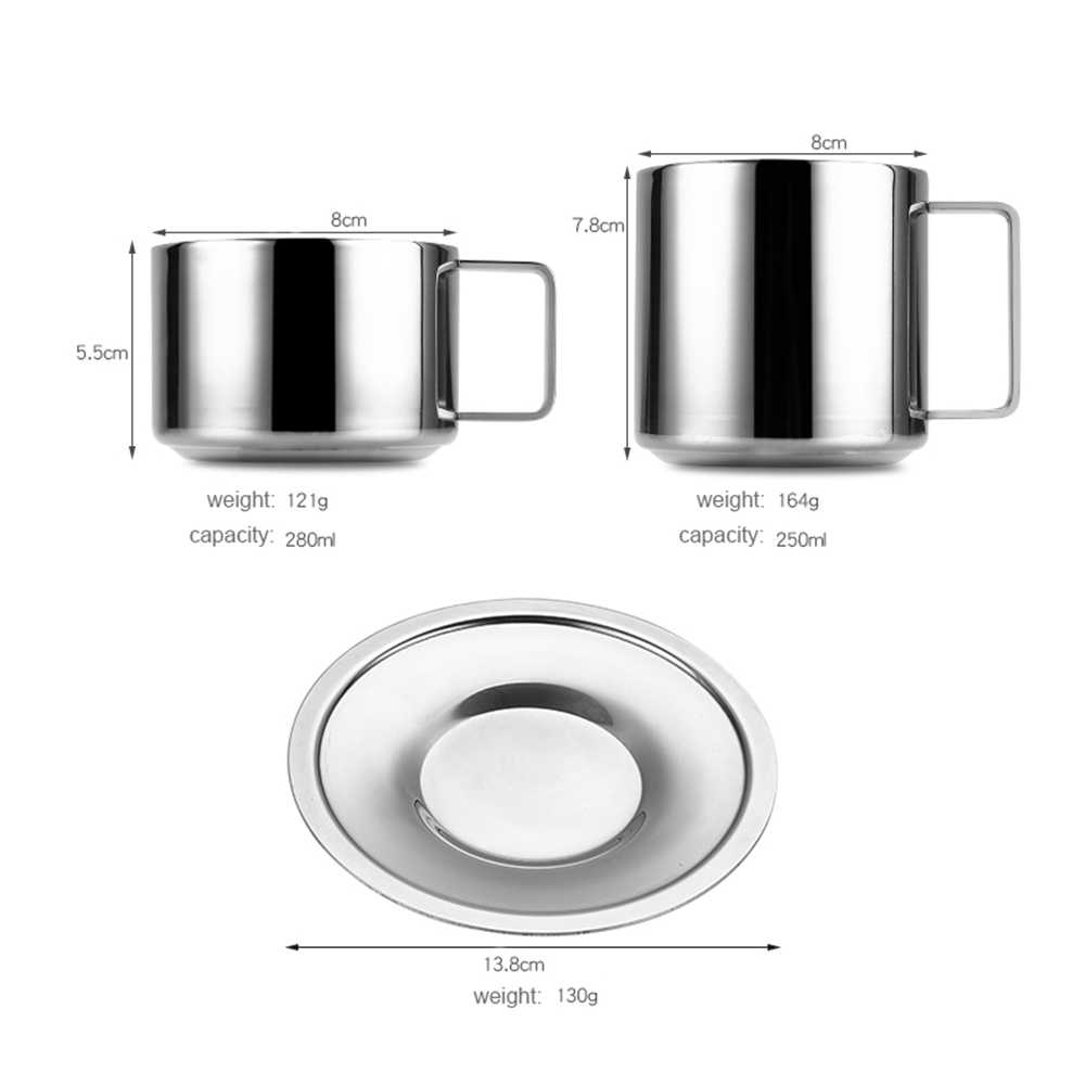 304 Stainless Steel Espresso Coffee Cup