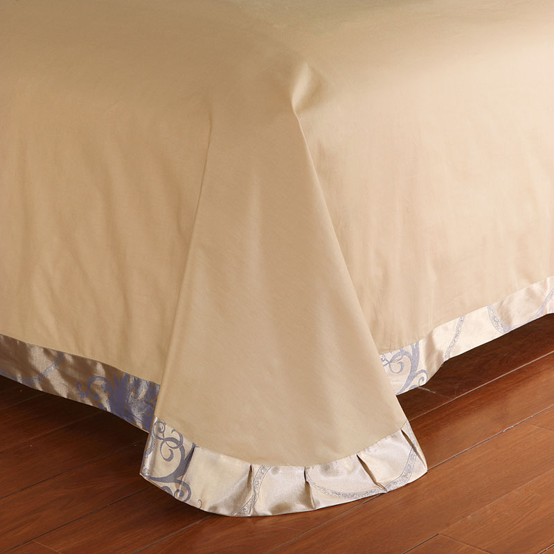 Stain Silk Jacquard Cotton Lace Duvet cover Bedding set Luxury King Queen size Bedsheet set Pillow