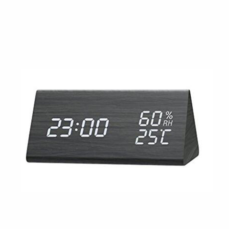 Home & Garden Sweet-Tempered Mrosaa Led Digital Alarm Clock Electronic Clock Desktop Display Backlight Music Calendar Thermometer Snooze Function Table Clock