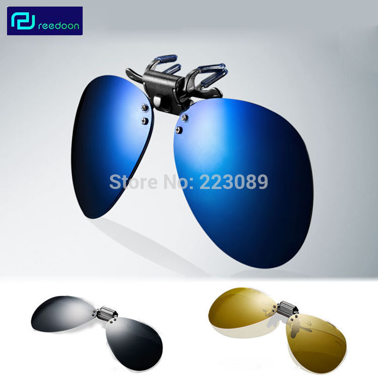 Brand Polarized Large Frame Sunglasses Men Myopia Clip Coating Sun Glasses Night  Vision Goggle Eyewear Accessories