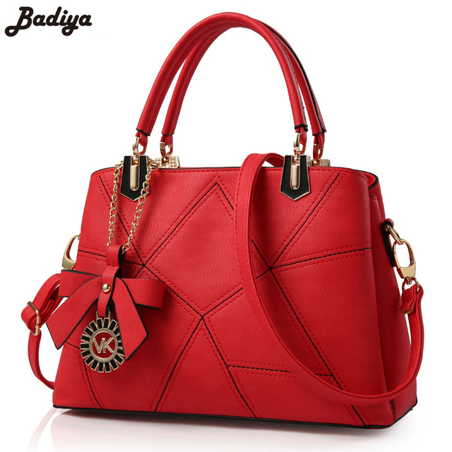 2017 New Fashion Women Handbag Tote Crossbody PU Leather Girls Gifts Shoulder Bags With Back Zipper Pockets Functional Sac Bags