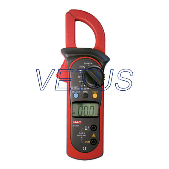 UNI-T UT201 LCD Digital Clamp Multimeter Ohm DMM DC AC Current Voltmeter clamp meter uni t ut118a original lcd digital multimeter