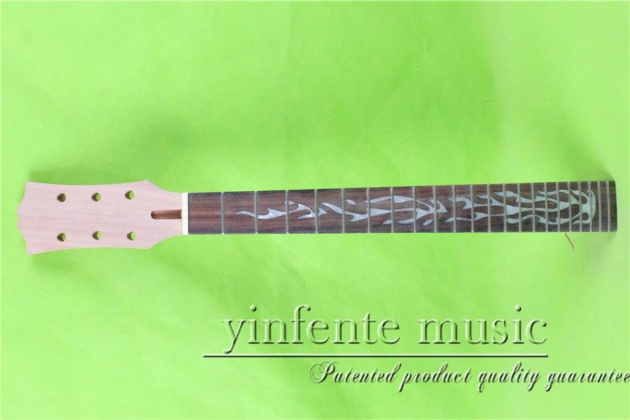 L -00123#    24.75 Electric guitar neck Rosewood      fingerboard fine quality  22 fret мякиши мякиши кубики 4 цвета