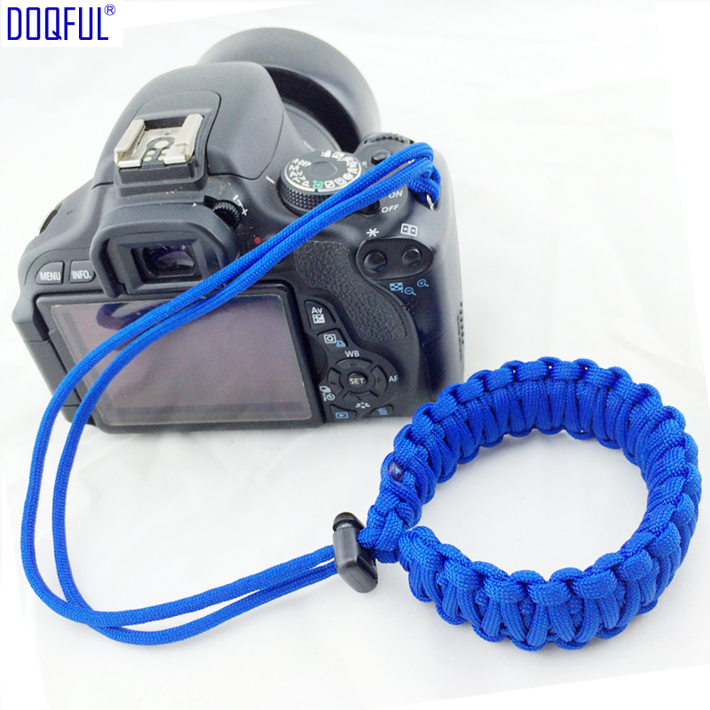 Handmade Camera Umbrella Rope Bracelet Wristband Braided Cord Knitted Camera Pendant Wrist Strap Outdoor Survival Parachute Cord