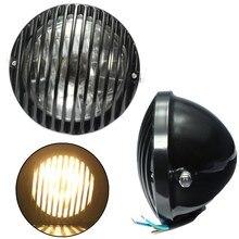 Jefe de Luz de Lámpara Linterna de la motocicleta Hi/Lo de Haz Para Harley/Bobber/Chopper