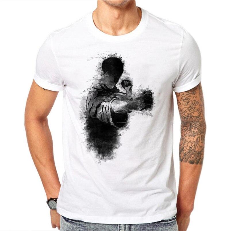 100% Baumwolle Bruce Lee Druck T-shirts Männer Sommer Tops Tees T Shirt Männer Oansatz Kurzarm Mode T-shirts Plus Größe
