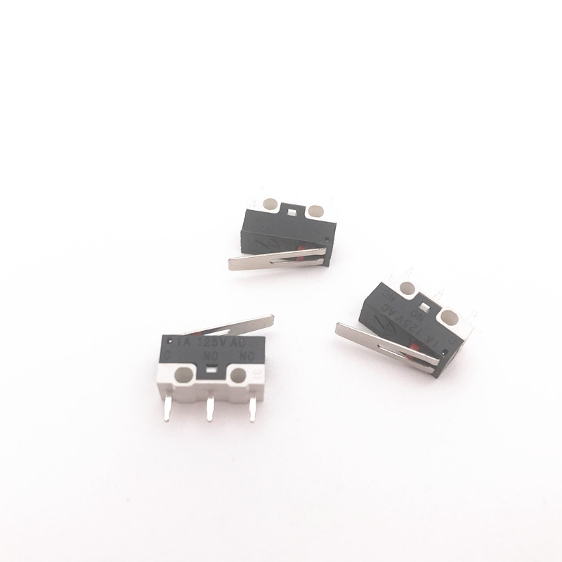 100pcs 3pin Mouse Switch Click Switch  1A 125V AC Rectangular Switches Miniature Micro Switch With Handle