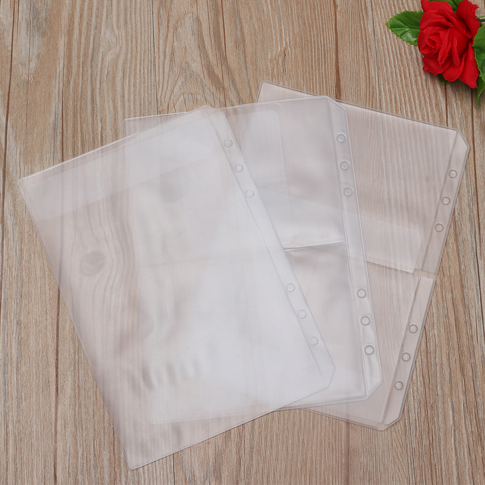 1PC A5 Zip Lock PVC Loose-leaf Storage Pouches Bag Document Postcard Template Organizer Clear Resealable Concise Collection New