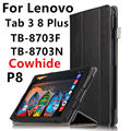 Case Cowhide For Lenovo Tab 3 8 Plus P8 Smart Cover Genuine Leather Tablets Protective 8 inch For TB-8703F TB-8703N Protector
