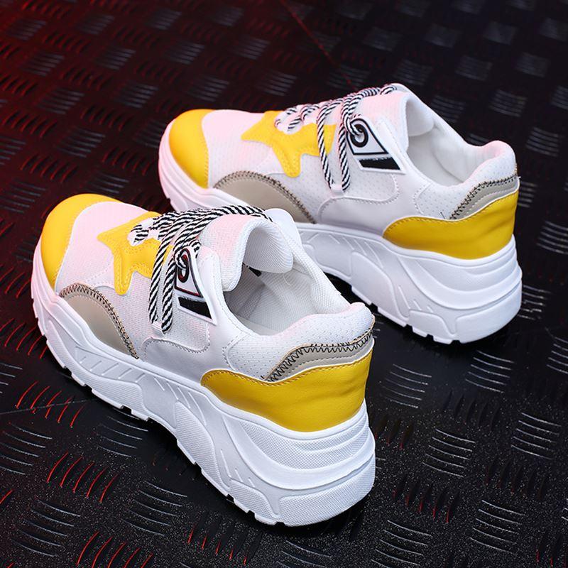 Женские кроссовки; сезон осень; модная повседневная обувь; женские удобные дышащие туфли на плоской подошве; женские кроссовки на платформе; Femme