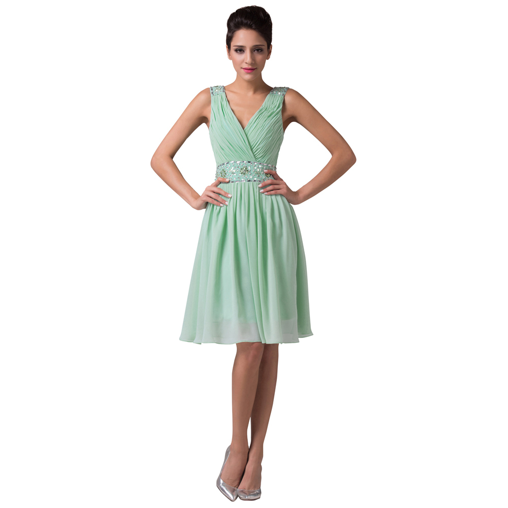 Grace karin charming mint green bridesmaid dresses knee length grace karin charming mint green bridesmaid dresses knee length chiffon satin beading sequin party gowns short bridesmaid dress in bridesmaid dresses from ombrellifo Images