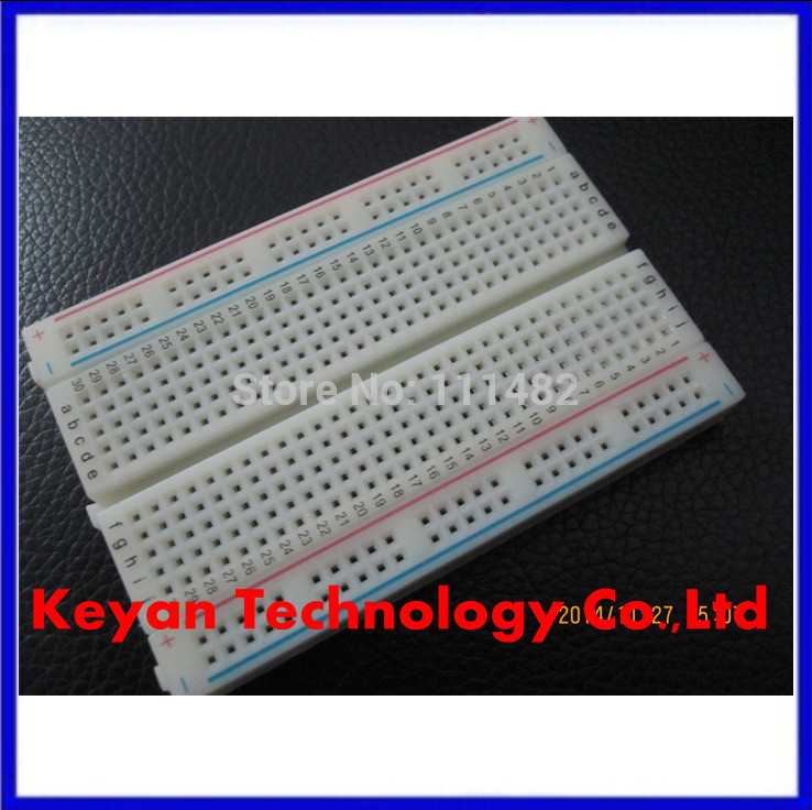 <font><b>100</b></font>% New 5pcs/lot <font><b>400</b></font> Tie Point Interlocking Solderless Breadboard image