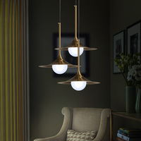 Nordic Modern Minimalist Glass Pendant Light Gold Gilt Iron Personality Cover LED Dining Room Bedroom Kitchen
