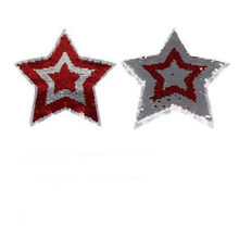 Clothing Sequin patches Star Reversible change color Red Silver Up and Down Flip Patch for clothes stranger things Stickers(China)