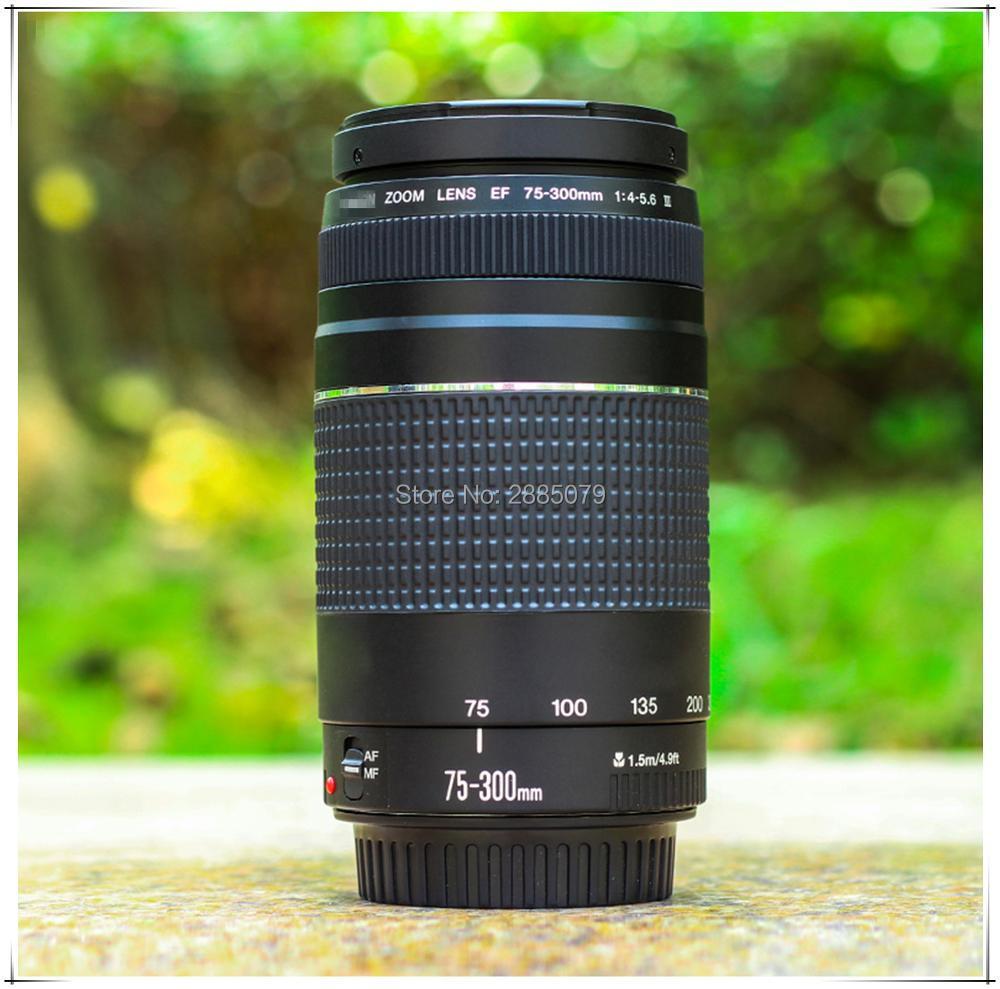 Original for Canon EF 75-300mm F/4-5.6 III telephoto lens For Canon EOS 1300D 650D 700D 60D 70D 80D 6D 7D 5D2 5D3 T3i T5i T6 стоимость