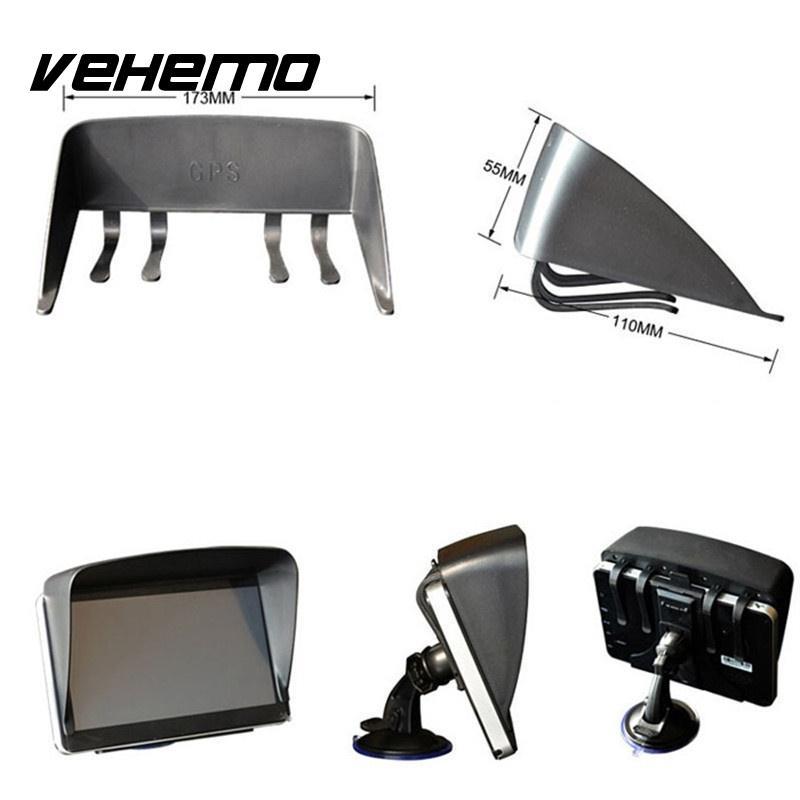 Vehemo חדש 7 Inch שמשיה עדשת הוד צל שמש כיסוי Visor Sunshield נווט GPS אנטי Glare אבזר באיכות גבוהה