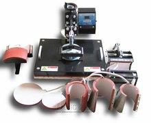 Кружки крышки Футболка combo машина давления жары 8 в 1 сублимация теплопередачи печатная машина