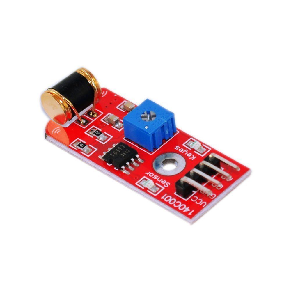 801S Vibration Sensor Module vibration Analog Output Sensitivity LM393 high sensitivity alarm vibration sensor module blue black