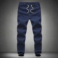 Mens Elastic Waist Joggers Sport Pants Harem Trousers Men School Pants Black Blue Khaki Army Green Plus Size M-4XL 5XL