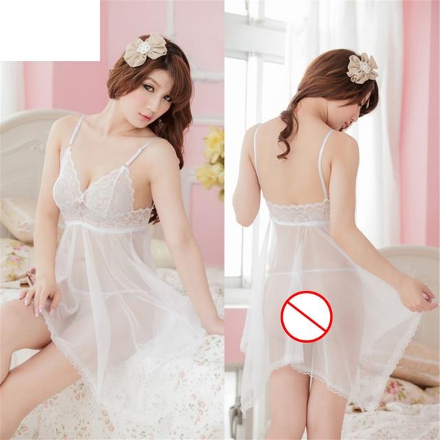 67f0dcf6f Hot Selling 2018 Ladies Sexy V Neck Lace Lingerie Sleepwear Babydoll  Chemise Nightwear Mini Sleeveless Women Sleepshirt
