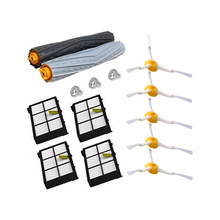 14Pcs/Lot Tangle-Free Debris Extractor Replacement Kit for iRobot Roomba 800 900 series 870 880 980 Vacuum Robots accessory pa 10pcs hepa filter for irobot roomba 800 900 series 870 880 980 filters vacuum robots replacements cleaner parts accessory