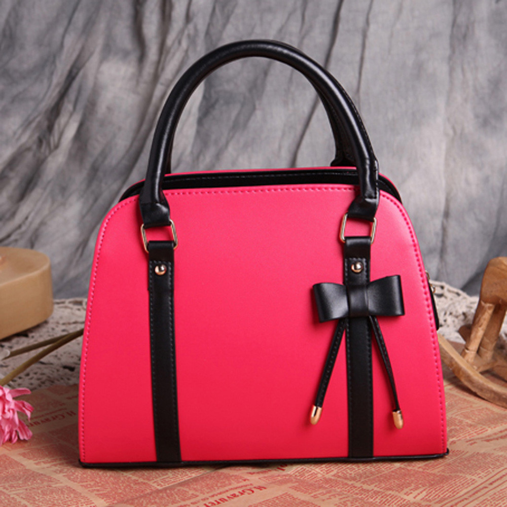 61b547bb10c4 2018 New Fashion Women Lady Faux Leather Tote Cross Body Ladies Shoulder  Bag Totes Purse Designer Handbags High Quality-in Shoulder Bags from  Luggage   Bags ...