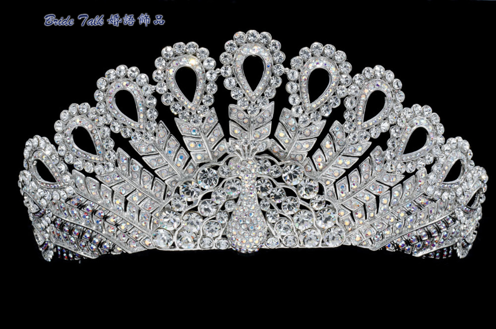 High Quality Exquisite Austrian Crystal Peacock Tiaras Crown for Little Girl Wedding Jewelry Hair Accessories Gift SH8557 заколки hello little girl hair accessories