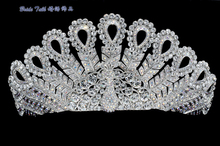 High Quality Exquisite Austrian Crystal Peacock Tiaras Crown for Little Girl Wedding Jewelry Hair Accessories Gift SH8557