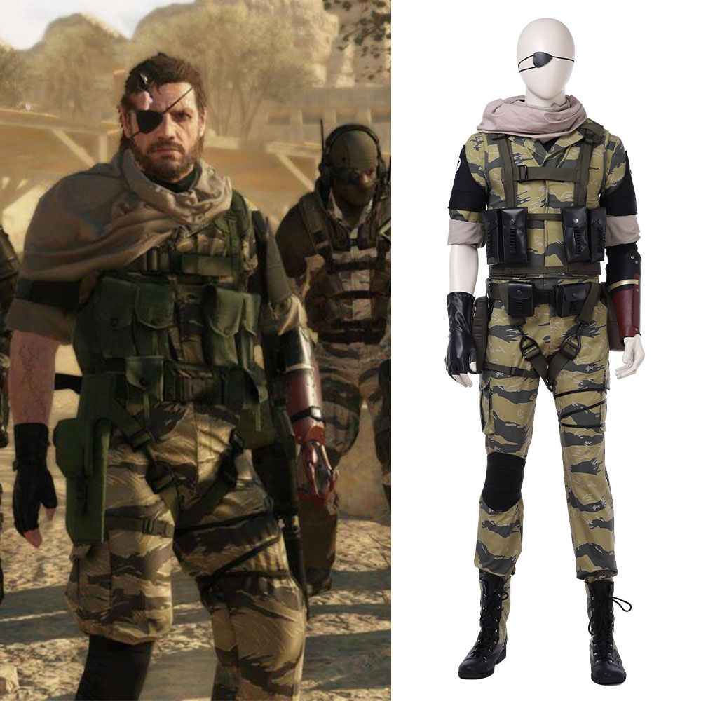 high-quality Metal Gear 5 Snake Cosplay Costume Halloween Costumes Adult Men Hot Game Snake Army suit Custom made