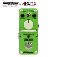 Aroma Greenizer Vintage Tube Like Overdriver Tone Guitar Effect Pedal With True Bypass Full Metal Shape