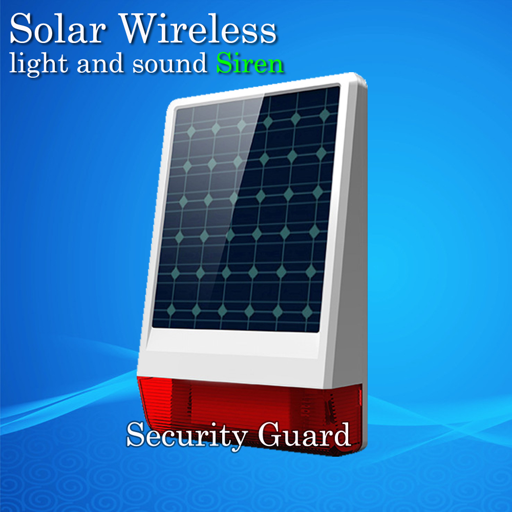 2019 New Free Shipping Solar Wireless Siren Flash 110dB Just For Our Alarm System 315MHz include Battery Popular all the world