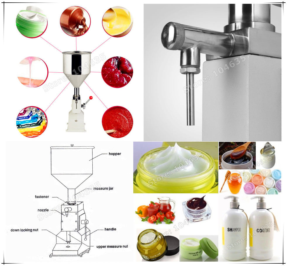 Free Shipping Manual Filling Machine(5~50ml) for cream best price in Aliexpress liquid or paste filling machine free shipping a03 new manual filling machine 5 50ml for cream