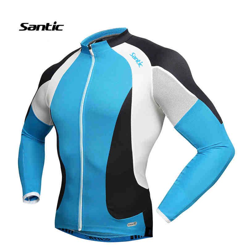 Santic Cycling Jersey Spring Cycling Clothes Men Long Sleeve Quick-Dry Bike Racing Jersey Ciclismo belgium Jersey Clothing spakct men cycling clothing quick dry racing bike jersey bicycle cycle clothes ropa ciclismo cycling jersey page 1
